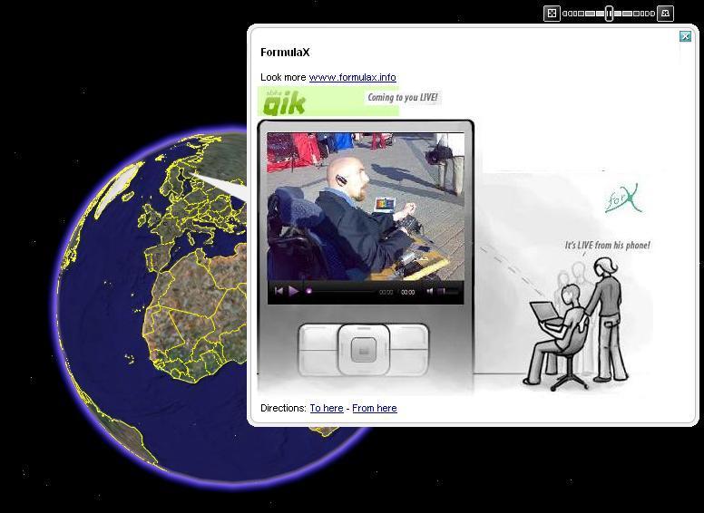 Kuvassa maapallo avaruudesta katsottuna ja livekuvaajamme Lauri pienempänä osakuvana